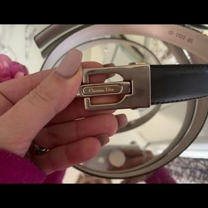 Christian Dior belt men's or women's black leather